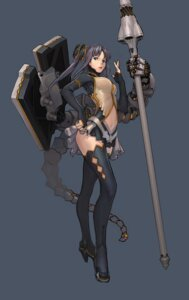 Rating: Safe Score: 35 Tags: mecha_musume nfb-zmc thighhighs User: Radioactive