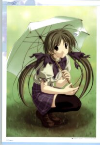 Rating: Safe Score: 5 Tags: memories_off memories_off_2nd seifuku shirakawa_hotaru thighhighs umbrella User: admin2