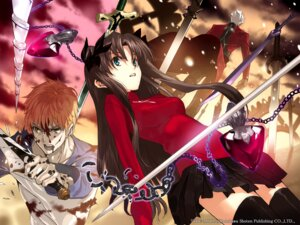 Rating: Safe Score: 35 Tags: archer blood emiya_shirou fate/stay_night_unlimited_blade_works morii_shizuki sword toosaka_rin type-moon wallpaper User: Devard