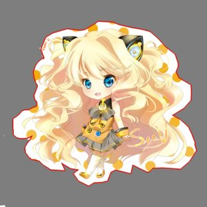 Rating: Safe Score: 12 Tags: animal_ears chibi nekomimi seeu temiji thighhighs vocaloid User: charunetra