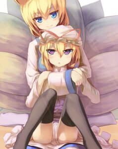 Rating: Safe Score: 29 Tags: animal_ears dress seneto tail thighhighs touhou yakumo_ran yakumo_yukari User: Zenex