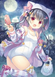 Rating: Questionable Score: 40 Tags: animal_ears loli nekomimi possible_duplicate school_swimsuit swimsuits tagme takano_yuki thighhighs User: kiyoe