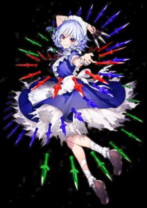 Rating: Safe Score: 9 Tags: bandages izayoi_sakuya maid tagme torn_clothes touhou weapon User: Mr_GT