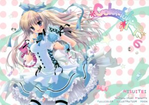 Rating: Safe Score: 56 Tags: alice alice_in_wonderland dress hisuitei izumi_tsubasu thighhighs User: midzki