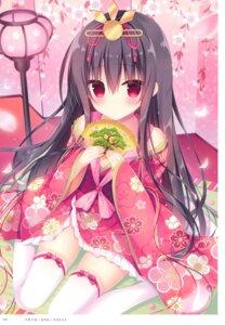 Rating: Safe Score: 34 Tags: hasune kimono thighhighs User: kiyoe