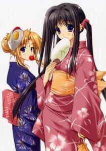 Rating: Safe Score: 13 Tags: aikagi hazuki_ayane hazuki_chika kimono suzuhira_hiro User: admin2