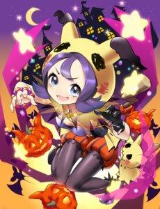 Rating: Questionable Score: 11 Tags: acerola_(pokemon) bloomers bra halloween mimikyu_(pokemon) pantyhose pokemon tm_(hanamakisan) User: Mr_GT
