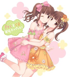 Rating: Safe Score: 45 Tags: dress horie_yui maki_(makimaki) symmetrical_docking tamura_yukari User: blooregardo