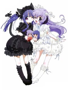 Rating: Safe Score: 45 Tags: animal_ears dress furude_rika hanyuu higurashi_no_naku_koro_ni horns lolita_fashion nekomimi sakai_kyuuta tail User: Radioactive
