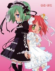 Rating: Safe Score: 26 Tags: bloomers fixed gothic_lolita iwasaki_minami kobayakawa_yutaka lolita_fashion lucky_star thighhighs ueno_chiyoko User: admin2