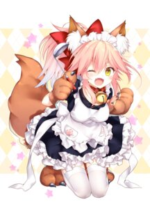 Rating: Safe Score: 30 Tags: animal_ears chihiro fate/grand_order maid tail tamamo_cat thighhighs User: Mr_GT