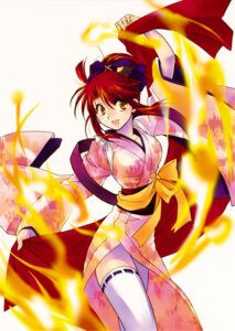 Rating: Safe Score: 13 Tags: kannagi_ayano kaze_no_stigma kimono nanto_hanamaru thighhighs User: Radioactive