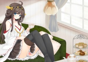 Rating: Questionable Score: 40 Tags: cleavage kantai_collection kongou_(kancolle) miko pantsu thighhighs utakata User: 椎名深夏