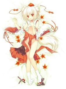 Rating: Questionable Score: 48 Tags: ane_niku animal_ears inubashiri_momiji loli no_bra nopan tail touhou User: Mr_GT