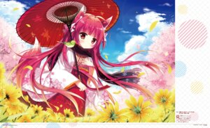 Rating: Safe Score: 39 Tags: animal_ears japanese_clothes kitsune shiromochi_sakura tail umbrella User: Twinsenzw