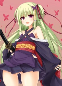 Rating: Questionable Score: 86 Tags: lolita_fashion murasame_(senren_banka) nopan senren_banka sword wa_lolita User: 桃花庵の桃花