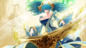 Rating: Safe Score: 30 Tags: cleavage dress goomrrat league_of_legends sona_buvelle wallpaper User: charunetra