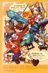 Rating: Questionable Score: 5 Tags: animal_ears guitar headphones megane neko nekomimi tail tetsuno_kyojin thighhighs User: blooregardo