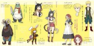 Rating: Safe Score: 7 Tags: adachi_shingo animal_ears cleavage heels maid sword tagme tail User: kiyoe