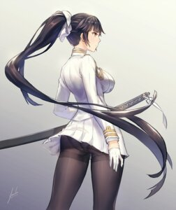 Rating: Safe Score: 57 Tags: anbe_yoshirou ass bilan_hangxian pantsu pantyhose sword takao_(azurlane) uniform User: Mr_GT