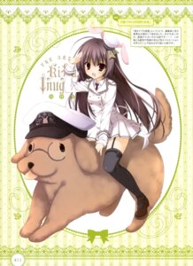 Rating: Safe Score: 47 Tags: animal_ears bunny_ears inugami_kira megane seifuku stockings thighhighs User: drop