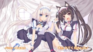 Rating: Safe Score: 22 Tags: animal_ears chocola cleavage endcard heels maid neko_works nekomimi nekopara skirt_lift tail thighhighs tsurusaki_takahiro vanilla wallpaper User: kotorilau