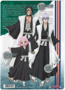 Rating: Safe Score: 4 Tags: bleach ichimaru_gin kusajishi_yachiru zaraki_kenpachi User: jxh2154