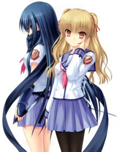 Rating: Safe Score: 13 Tags: angel_beats! duplicate key na-ga pantyhose seifuku shiina weapon yusa User: marechal