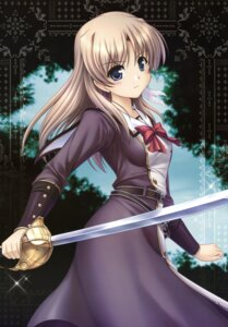 Rating: Safe Score: 43 Tags: aiyoku_no_eustia bekkankou fione_silvaria sword User: Radioactive