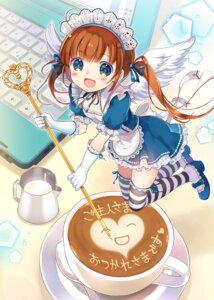 Rating: Safe Score: 30 Tags: maid moe2015 takeda_mika thighhighs wings User: fairyren