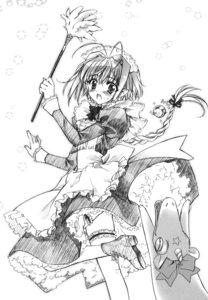 Rating: Safe Score: 5 Tags: carnelian garter maid monochrome sketch User: Feito