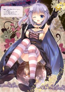 Rating: Questionable Score: 92 Tags: cleavage dress mitsu_king sem;colon thighhighs User: Twinsenzw