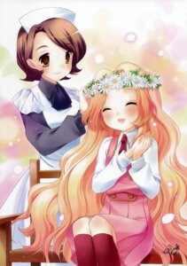 Rating: Safe Score: 8 Tags: code_geass eco maid nunnally_lamperouge seifuku shinozaki_sayoko User: Kalafina