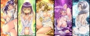 Rating: Questionable Score: 85 Tags: ass breast_hold cleavage hijiri_byakuren no_bra nopan robe saburou_(hgmg) saigyouji_yuyuko touhou wet_clothes yagokoro_eirin yakumo_yukari yasaka_kanako User: Mr_GT