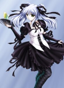 Rating: Safe Score: 15 Tags: gothic_lolita hoshino_ruri kisaragi lolita_fashion martian_successor_nadesico necomanma pantyhose waitress User: Pelsia
