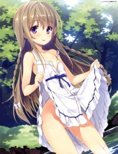 Rating: Questionable Score: 239 Tags: dress loli nipples no_bra nopan open_shirt see_through skirt_lift summer_dress wet yuuki_hagure User: drop