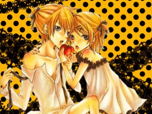 Rating: Questionable Score: 9 Tags: kagamine_len kagamine_rin romeo_and_cinderella_(vocaloid) tagme vocaloid wallpaper User: charunetra