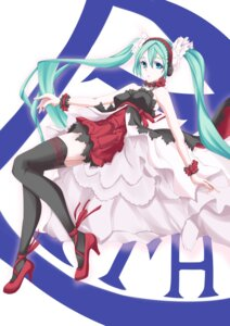 Rating: Safe Score: 18 Tags: 7th_dragon_2020-ii dress hatsune_miku headphones heels tagme thighhighs User: charunetra