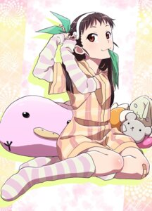 Rating: Safe Score: 40 Tags: bakemonogatari bandaid hachikuji_mayoi makicha monogatari_(series) pajama User: yanis