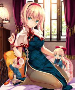 Rating: Safe Score: 215 Tags: alice_margatroid chibi chinadress monety pantyhose shanghai touhou User: fairyren