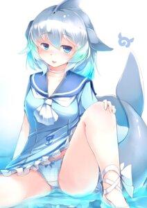 Rating: Questionable Score: 33 Tags: common_bottlenose_dolphin kanzakietc kemono_friends pantsu seifuku skirt_lift tail wet User: Mr_GT