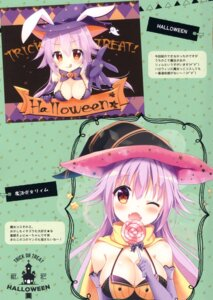 Rating: Questionable Score: 8 Tags: animal_ears aoi_yun bra bunny_ears cleavage halloween tagme witch User: Radioactive