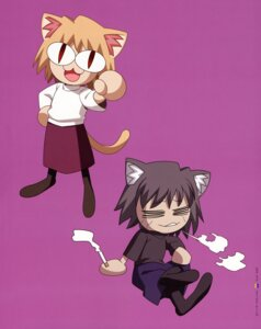 Rating: Safe Score: 3 Tags: animal_ears chibi neko_arc neko_chaos nekomimi smoking tail takeuchi_takashi tsukihime type-moon User: Aurelia