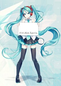 Rating: Safe Score: 49 Tags: hatsune_miku headphones ixima thighhighs vocaloid User: Sunimo