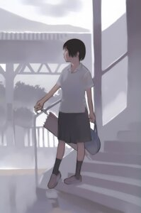 Rating: Safe Score: 9 Tags: seifuku takamichi umbrella User: Radioactive