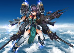 Rating: Safe Score: 25 Tags: magu_(mugsfc) mecha_musume thighhighs weapon User: Radioactive