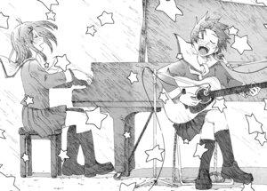 Rating: Safe Score: 3 Tags: concerto fukagawa_ino guitar hattori_mitsuru monochrome oosawa_hitomi seifuku User: Furukawa
