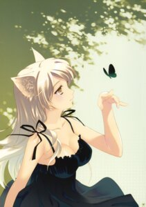 Rating: Questionable Score: 78 Tags: airamatnas animal_ears bakemonogatari cleavage dress hanekawa_tsubasa santa_matsuri summer_dress User: fireattack