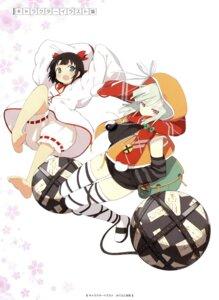 Rating: Safe Score: 33 Tags: bloomers dress kagura_(senran_kagura) naraku_(senran_kagura) senran_kagura thighhighs yaegashi_nan User: Radioactive