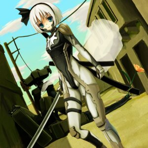 Rating: Safe Score: 26 Tags: bodysuit iny konpaku_youmu metal_gear metal_gear_solid sword touhou User: Sanderu